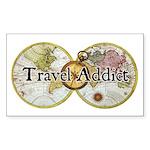Travel Addict (Classic Logo) Sticker
