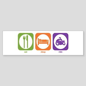 Eat Sleep Ride Bumper Sticker