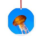 Tropical Island Jellyfish - Ornament Round