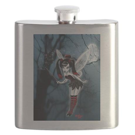 Dark Goth Fairy Flask