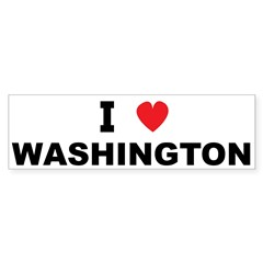I Love Washington Bumper Bumper Sticker