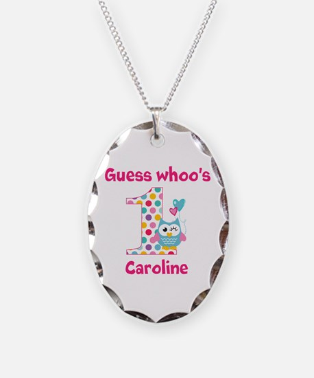 Custom guess whos 1 girl Necklace Oval Charm