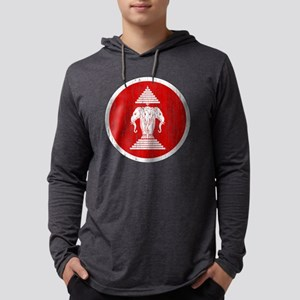 Laos 2 Roundel Aged Mens Hooded Shirt