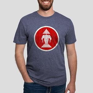 Laos 2 Roundel Aged Mens Tri-blend T-Shirt