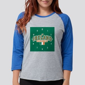IE Hky clock3 Womens Baseball Tee
