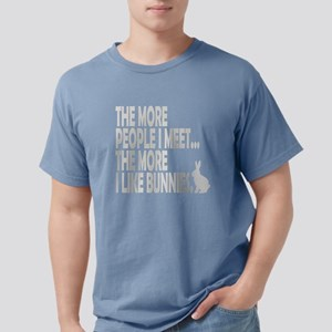 THE MORE I LIKE BUNNIES  Mens Comfort Colors Shirt
