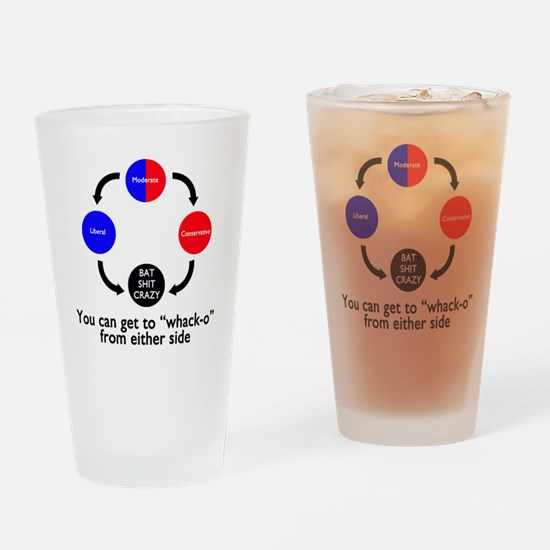 The Truth about Political Views Drinking Glass