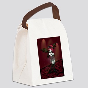Gloomy Gothic Fairy Canvas Lunch Bag