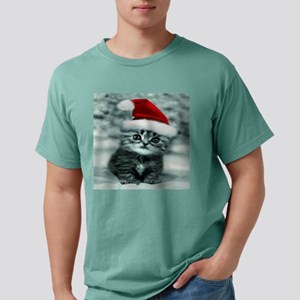 christmas santa cat 13.p Mens Comfort Colors Shirt