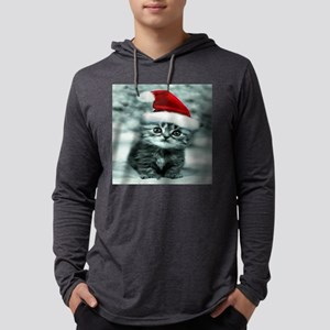 christmas santa cat 13 Mens Hooded Shirt