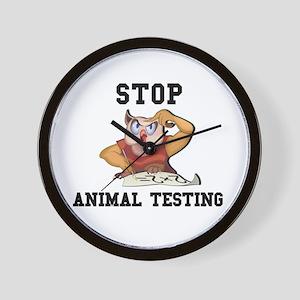 Stop Animal Testing Wall Clock