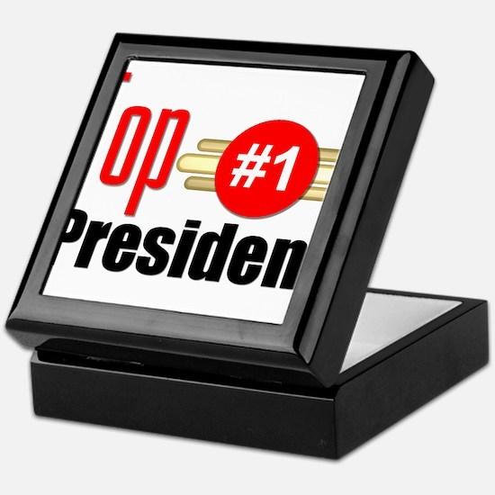 Top President Keepsake Box