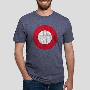 Malta Roundel Aged Mens Tri-blend T-Shirt