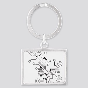 Circuit Landscape Keychain
