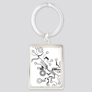 Circuit Portrait Keychain