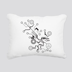 Circuit Rectangular Canvas Pillow