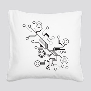 Circuit Square Canvas Pillow