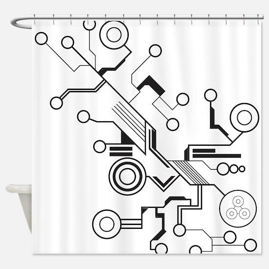 Circuit Shower Curtain