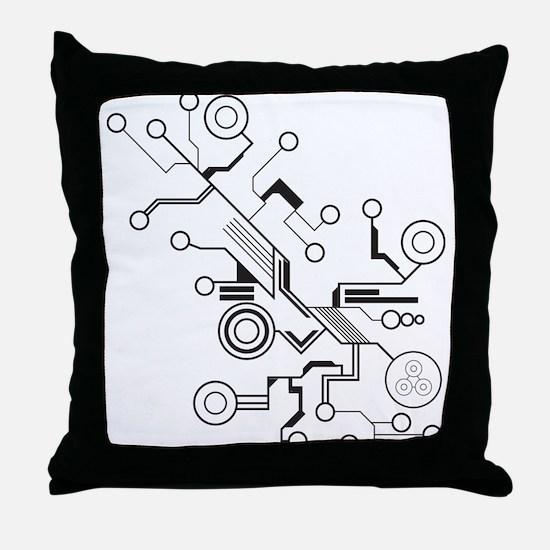 Circuit Throw Pillow