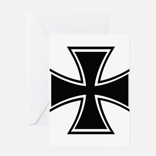 Biker Cross Greeting Card