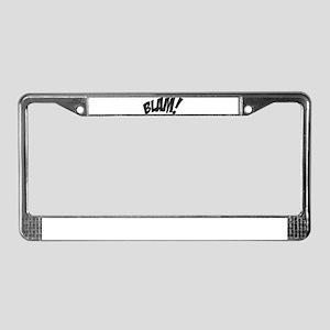 Blam! License Plate Frame