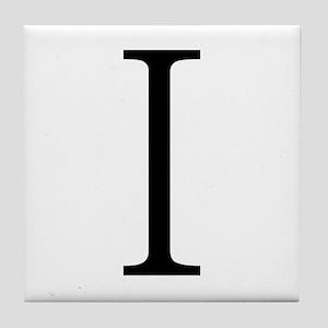 Greek Alphabet Iota Tile Coaster