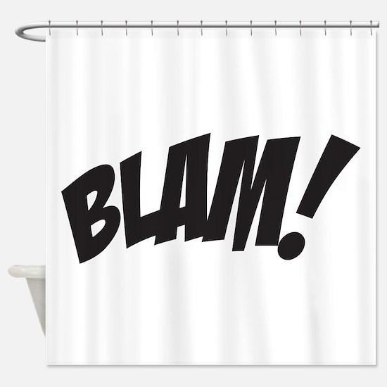 Blam! Shower Curtain