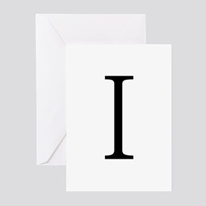 Greek Alphabet Iota Greeting Cards (Pk of 10)