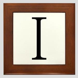 Greek Alphabet Iota Framed Tile