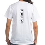 White T-Shirt<br>F: Get In... Icons<br>B: Signs