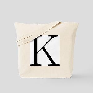 Greek Character Kappa Tote Bag
