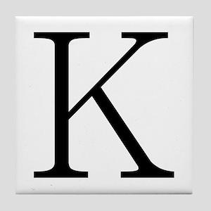 Greek Character Kappa Tile Coaster