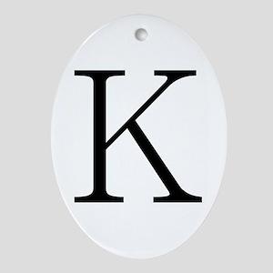 Greek Character Kappa Oval Ornament