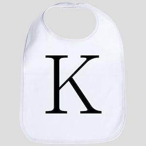 Greek Character Kappa Bib