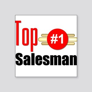 "Top Salesman Square Sticker 3"" x 3"""