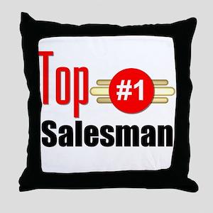 Top Salesman Throw Pillow