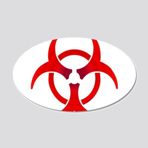 Biohazard - RED 20x12 Oval Wall Decal