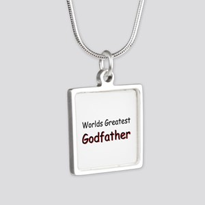 Greatest Godfather Silver Square Necklace