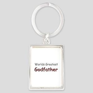 Greatest Godfather Portrait Keychain