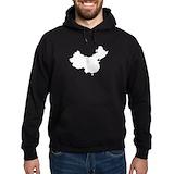 Map of china Dark Hoodies