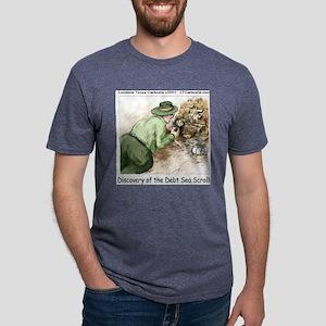 Debt Sea Scrolls Mens Tri-blend T-Shirt