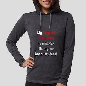 englishfoxhoundsmarter10-t Womens Hooded Shirt