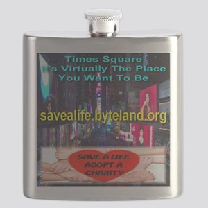 Save A Life Adopt A Charity Times Square Flask