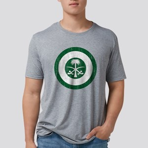 Saudi Arabia Roundel Aged.p Mens Tri-blend T-Shirt