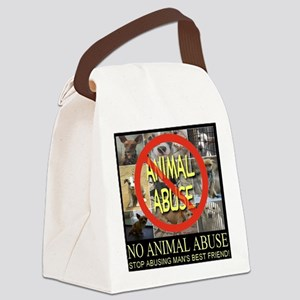 No Animal Abuse Canvas Lunch Bag