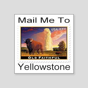 """mailmeto_yellowstone Square Sticker 3"""" x 3"""""""