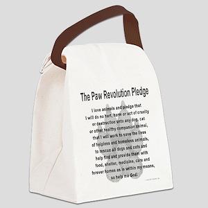 The Paw Revolution Pledge Canvas Lunch Bag