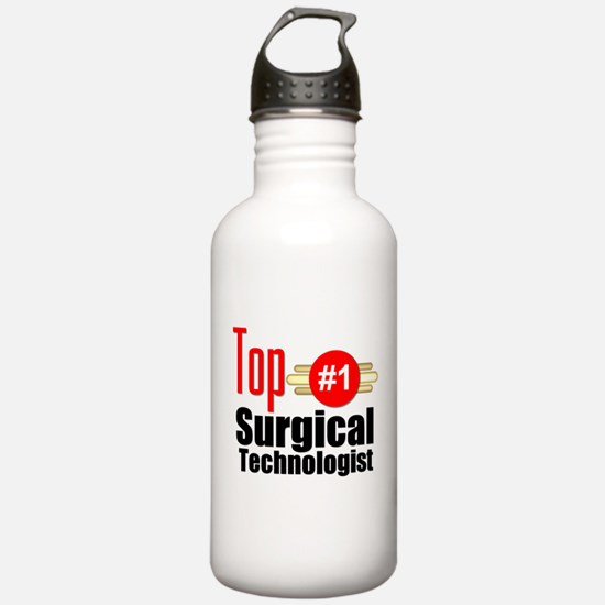 Top Surgical Technologist Water Bottle