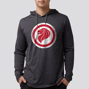 Singapore Lion Roundel Aged Mens Hooded Shirt