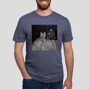WESTIE CHRISTMAS AWE Mens Tri-blend T-Shirt